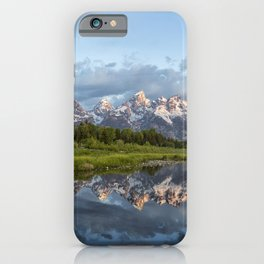 Light Touching the Grand Tetons iPhone Case