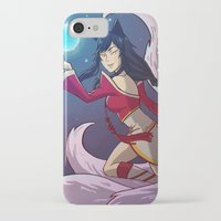 league of legends iPhone & iPod Cases featuring League of Legends | Ahri by pandabandanna