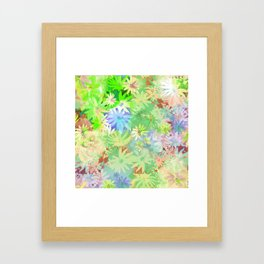 A bed of flowers. Framed Art Print