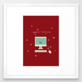 I'm Dreaming a #FFFFFF Christmas Framed Art Print