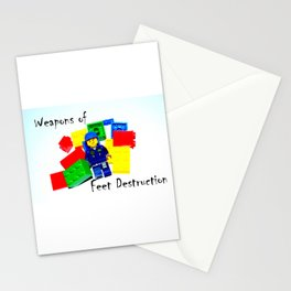 Feet on the Front Line Stationery Cards