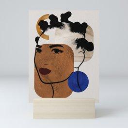 Afro Hair Style - Bantu Knots Mini Art Print