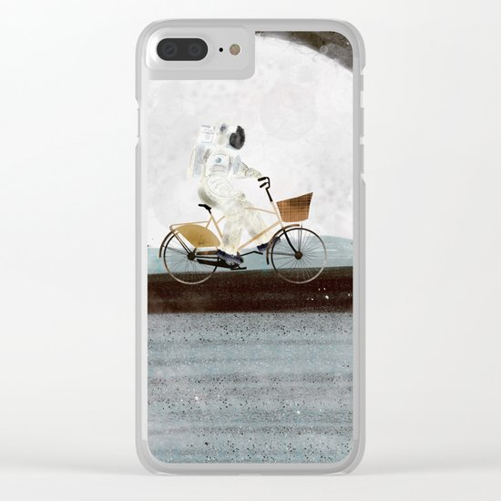 shopping for astronauts Clear iPhone Case