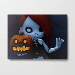 Rag Doll Halloween Metal Print