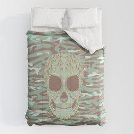camouflage skull Comforters
