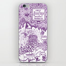 Map of Bohemia (purple) iPhone Skin