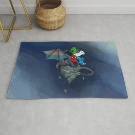 Tiamat the Five-Headed Dragon Rug