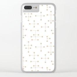 Atomic Era Dots 39 Clear iPhone Case