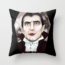 Dracula Throw Pillow