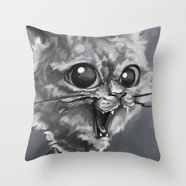 Kitty Smile Throw Pillow