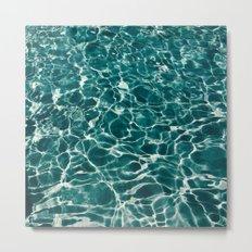 SEA - blue , white ocean , waves , clear , clarity Metal Print