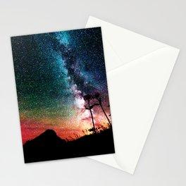 Colorful Milky Way Landscape Stationery Cards