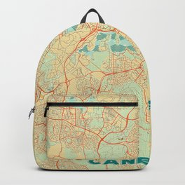 Canberra Map Retro Backpack