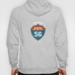 Vintage Made In 56 1956 Birthday Gift Hoody