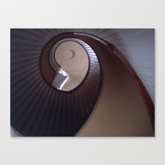 Lighthouse stairs Canvas Print