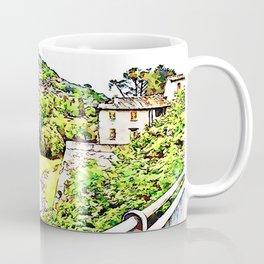 Fognano: view with flowerpot Coffee Mug