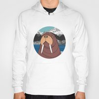 walrus Hoodies featuring Walrus by Diana Hope