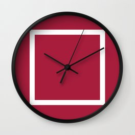Panelling Red Wall Clock