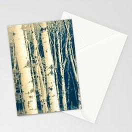 Winter Birch Cyanotype Stationery Cards