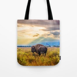 The Great American Bison Tote Bag