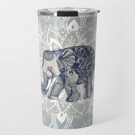Elephant  Mandala Travel Mug