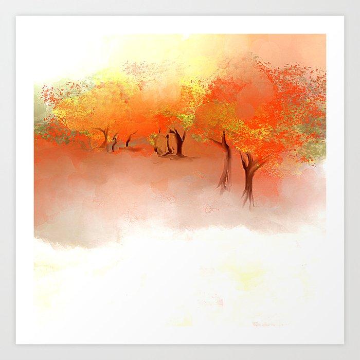 Unbelievable Autumn Art Print