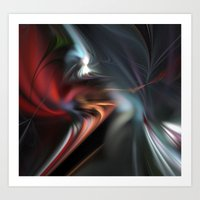 fractal Art Prints featuring Fractal  by Leatherwood Design