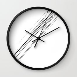 Letraset Collage 5 Wall Clock