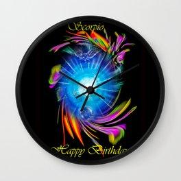 Zodiac sign Skorpio, Happy Birthday Wall Clock