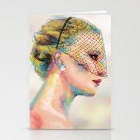jennifer lawrence Stationery Cards featuring Jennifer Lawrence by Pandora's Box Design Co.