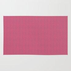 Dark Pink Spotty Pattern Rug