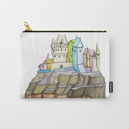 fairytale castle on a cliff Carry-All Pouch