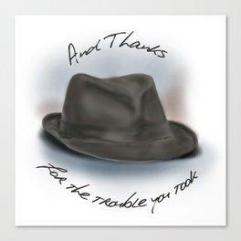 Hat for Leonard Cohen Canvas Print