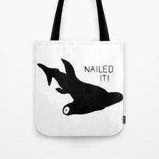 Hammerhead Shark Nailed It! Tote Bag