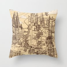 San Francisco! (Dusty) Throw Pillow