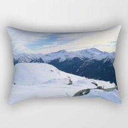 The snowy rocks at mountain tops Rectangular Pillow