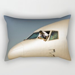 HEY! Can You Check the Oil Too? Rectangular Pillow
