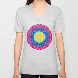 floral ornament. circular pattern Unisex V-Neck