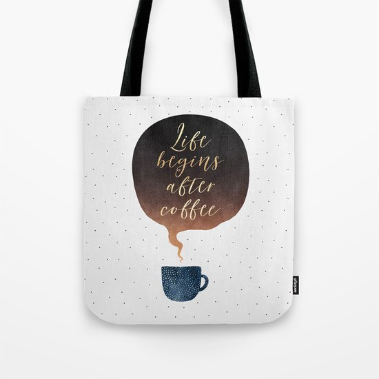 Life Begins After Coffee 1 Tote Bag