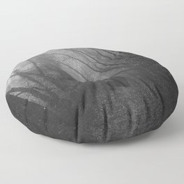 Black Cat in the Forest Floor Pillow