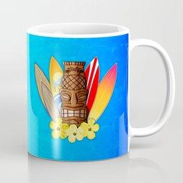 Surfboards And Tiki Mask Coffee Mug