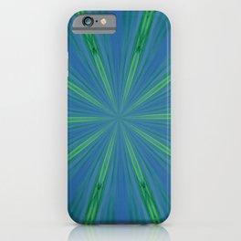 Green Warp design iPhone Case
