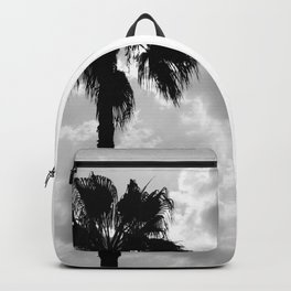 Palm Trees In Black And White Backpack