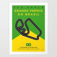 My F1 Interlagos Track Minimal Poster Art Print