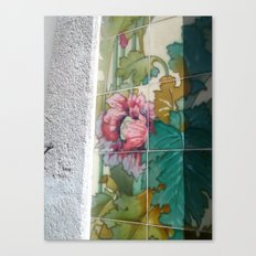 Porto Flower Tiles Canvas Print