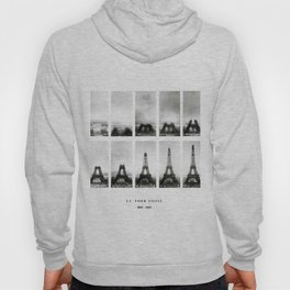1888-1889 Eiffel Tower Full Construction Sequence black and white photography Hoody