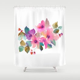 Lovely pink flowers. Watercolor florals Shower Curtain