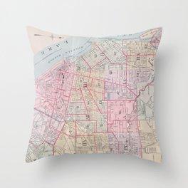 Vintage Map of Buffalo NY (1915) Throw Pillow