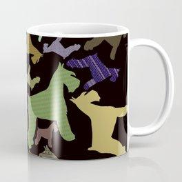 schnauzer pattern *black* Coffee Mug