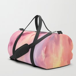 Pink Cotton Candy Sunset Sky Duffle Bag